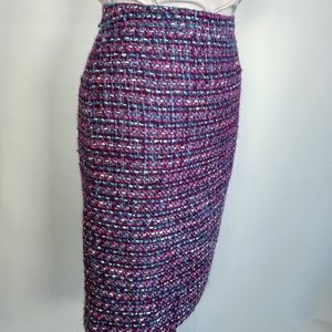 J. Crew high waist tweed wool pencil skirt 2